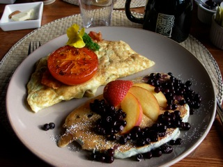 Breakfast at the Logpile Lodge in Smithers, BC